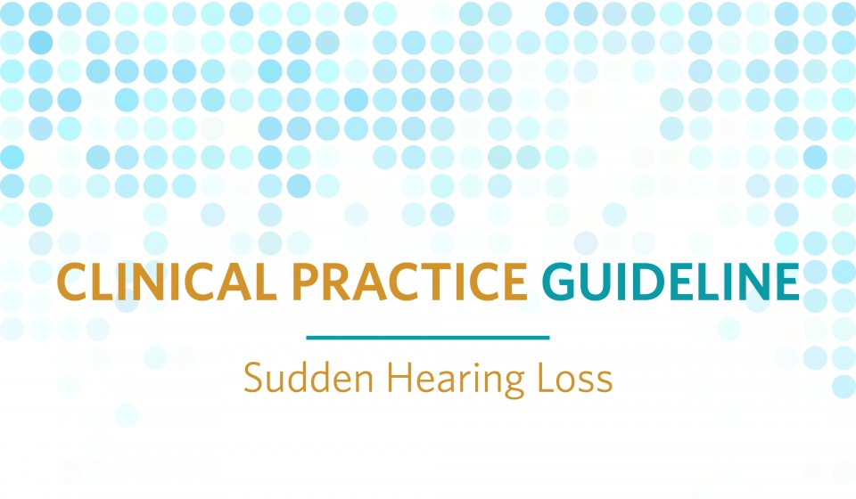 Sudden Hearing Loss CPG
